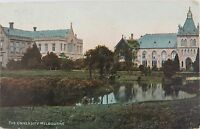 .1907 MELBOURNE UNIVERSITY COLOUR POSTCARD. NICE CONDITION.
