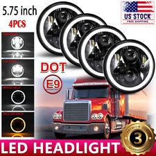 "4pcs 5 3/4"" 5.75"" Projector LED Headlights Sealed Beam fit for Peterbilt 359 348"