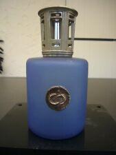 LAMPE BERGER PARIS MADE IN FRANCE  BLUE SATIN GLASS PEWTER CAP 2003