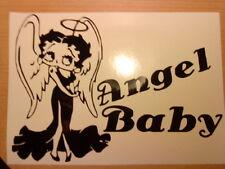 betty boop angel car vinyl graphic sticker fun girls wall art laptop vw ford bmw