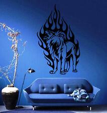 Lion's Roar In Flames King of the Jungle Wall MURAL Vinyl Art Sticker Decal M301