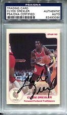 1985 STAR Clyde Drexler AUTO PSA DNA Portland Trailblazers #165 Basketball Card