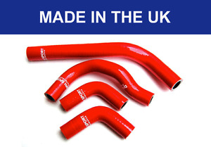 HONDA CRF250R 04-09 CRF250X 04-18 SILICONE HOSE RADIATOR WATER PIPES KIT RED