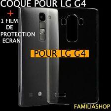 Coque rigide étui housse pochette transparente cristal pour LG G4 + Film