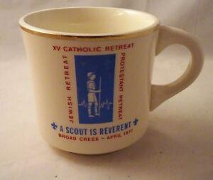 Vintage Boy Scout Mug Broad Creek 1977