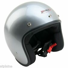 CASQUE JET Homologué ABS - Silver - Taille M