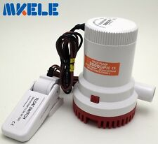 New 12V 2000GPH Submersible Marine Boat Bilge Water Pump With Float Switch
