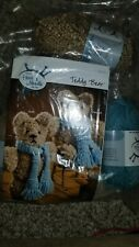 Annie's Hook & Needle Kit Teddy Bear Knit or Crochet Stuffed Animal Complete