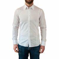 Camicia Uomo Slim Fit Bianca Manica Lunga Elegante Aderente Classica Sartoriale