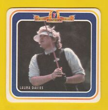 GOLF  MEMORABILIA  -  FOSTERS  LAGER  BEERMAT  -  LAURA  DAVIES  -  1995