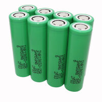 8X 18650 2500mAh 25R 3.7V Battery Li-ion INR High Drain Rechargeable-Power Bank