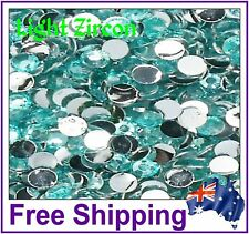 Rhinestones Resin FB 4mm ~ Lt Zircon ~ 500 Pack By Gypsy Bling ~ Free Post