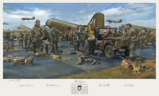 James Dietz The Veterans Art Print Signed by 4 WWII Heroes- Paratroopers & more!