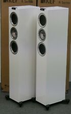 KEF R500 Speakers Pair Gloss White Perfect Condition