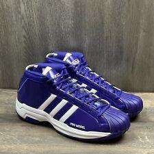 Adidas Pro Model 2G Men's Basketball Shoes SIZE 14.5 TEAM LAKERS Purple FV7056