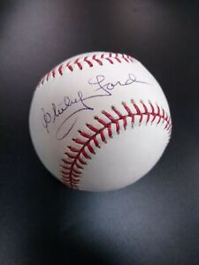 Official MLB Baseball Bud Selig Autograph WHITEY FORD Baseball Clean Signature