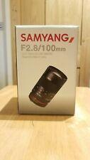 SAMYANG 100mm F2.8 ED UMC Telephoto MACRO Lens for FUJIFILM X Mount