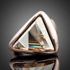 Modeschmuck-Ringe mit Kristall-Hauptstein und Tropfen-Schliffform