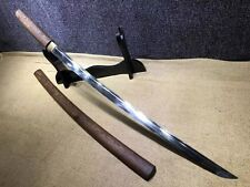 Japanese T10 Rosewood Clay Tempered Katana Samurai Sword Shirasaya Full Tang