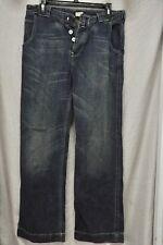 Vintage Levi's Europe Straight Leg Buckle Button-Fly Blue Denim Jeans 32W 30L