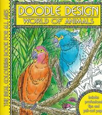 WORLD OF ANIMALS COLOURING BOOK DOODLE DESIGN