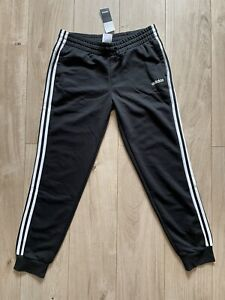 Adidas Women's Black Jersey Slim Fit Tracksuit Joggers, L (16-18)