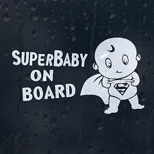 Super Man Baby On Board Super Hero Decal Vinyl Sticker