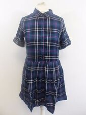 Jack Wills Pentlow Shirt Dress Blue Size UK 4 RRP £69.50 Box46 56 D