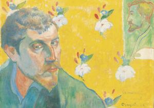 Paul Gauguin - Self Portrait - A4 size 21x29.7cm Canvas Art Print Unframed