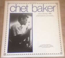 CHET BAKER live in europe 1956 FRENCH MUSIDISC JA5240 1982 VINYL LP.