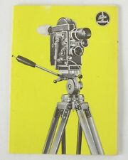 Bolex Tripod Instruction Manual (502/56)