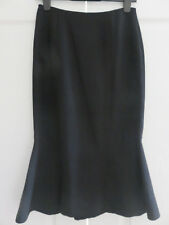HOBBS LONDON DESIGNER MARILYN ANSELM BLACK LINED FLUTED SKIRT SIZE UK 8 10