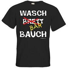 getshirts - RAHMENLOS® Geschenke - T-Shirt - Fun - Wasch Bär Bauch