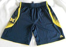 adidas Michigan Wolverines Point Guard Basketball Shorts - Navy Blue XL