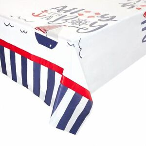 """3 Pack Ahoy It's a Boy Baby Shower Party Tablecloth Table Cover, 54 x 108"""""""