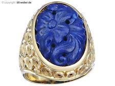 "Ring ""Lapislazuli"" 750er Gelbgold ca. 1955-60"