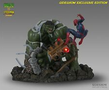 SIDESHOW EXCLUSIVE INCREDIBLE HULK Vs SPIDER-MAN Diorama STATUE Bust PREMIUM