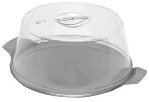 Cake Plate Dome Cloche 30cm Stainless Steel Cake Base Plate Plastic Cover