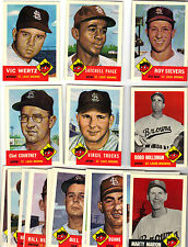 ST LOUIS BROWNS (BALTIMORE ORIOLES)1953 TOPPS ARCHIVES TEAM (20) SATCHELL PAIGE