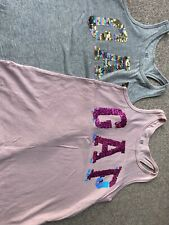 Gap Girls Summer Vest Tops. Age 8 (M). Immaculate Condition