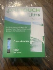 100 One Touch Ultra Test Strips New In Box expires 08/31/2021