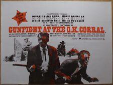 GUNFIGHT AT THE O.K. CORRAL (1957) RR original UK quad film/movie poster,western
