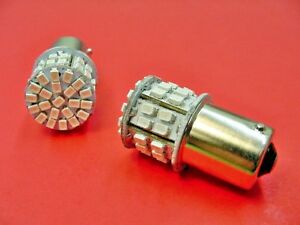 2 Olds Pontiac GMC #1156 #89 Red 12V Interior Courtesy Trunk LED Light Bulb Lamp