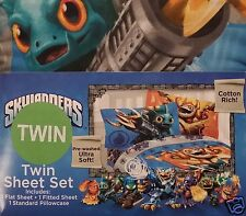 ACTIVISION SKYLANDERS TWIN SIZE SHEET SET WITH ONE PILLOWCASE