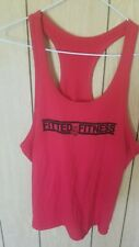 Red Fitness Muscle Tank Top Medium