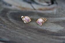 AamiraA 18K Gold Plated Heart Zircon AAA+ Designer Earrings Hoops Loops