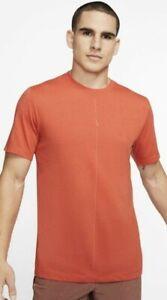 Nike Dry Tee DB Yoga Tri Blend Align DRI-FIT Shirt MENS SIZE XL CT6476‑808