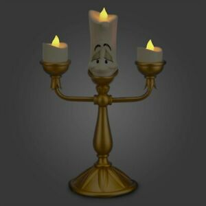 Disney Princess Beauty & Beast 3d Lumiere Candle Stick Light Up Kid Bedroom Lamp