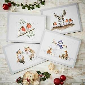 Wrendale Christmas Table Placemats & Coasters by Royal Worcester