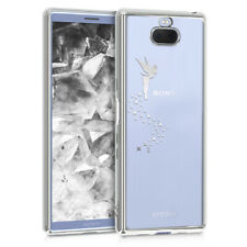 TPU Crystal Case for Sony Xperia 10 with Galvanized Frame